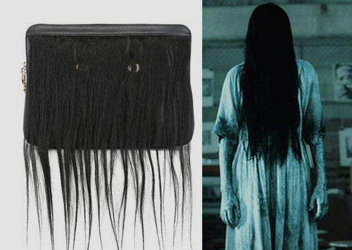 Клатч с человеческими волосами.