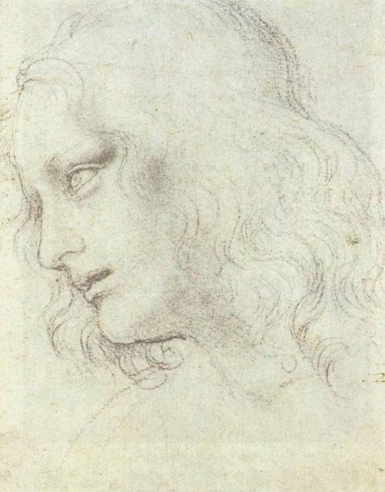 Леонардо да Винчи, набросок «Тайной вечери».