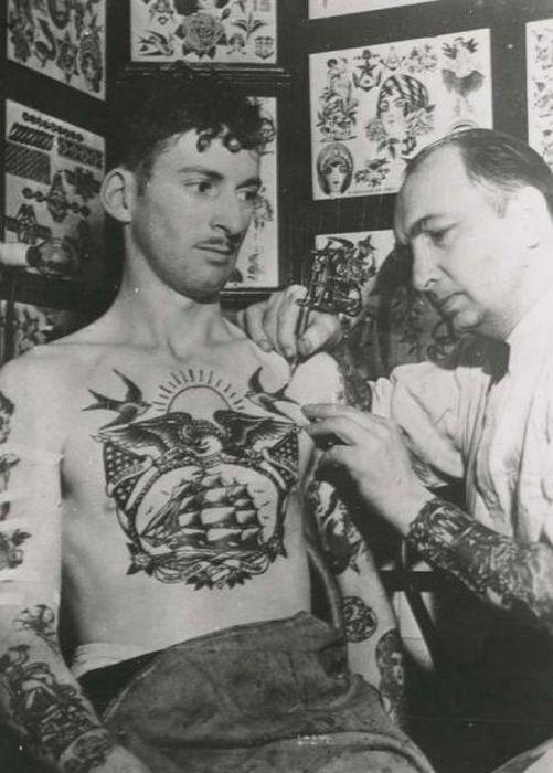 Татуировки моряков.