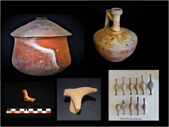Керамика, найденная при раскопках.