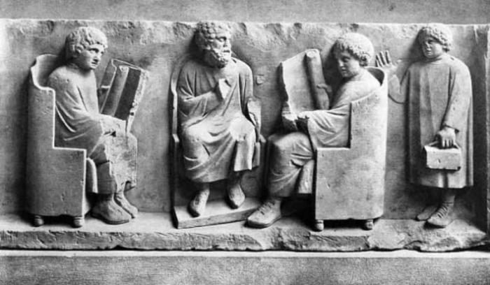 Римские школьники.