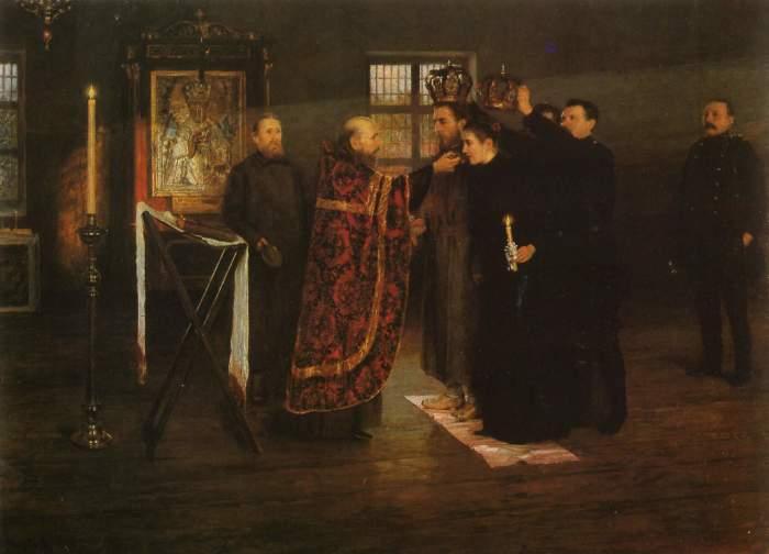 «Свадьба в тюрьме». Художник Николай Матвеев.