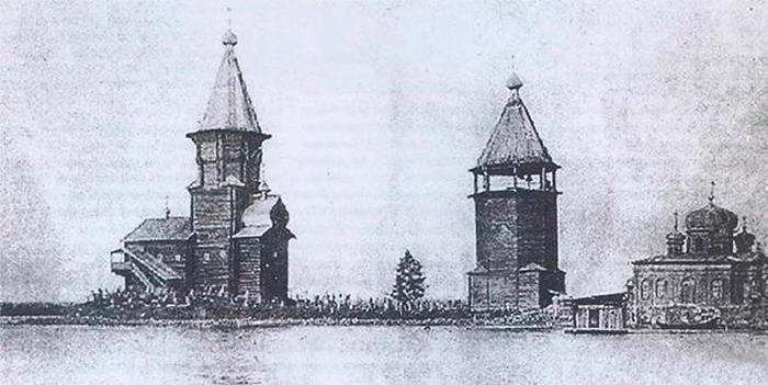 Храмовый комплекс Успенского собора на фотографии 1917 года.