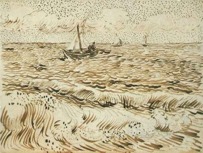 Один из рисунков Ван Гога.