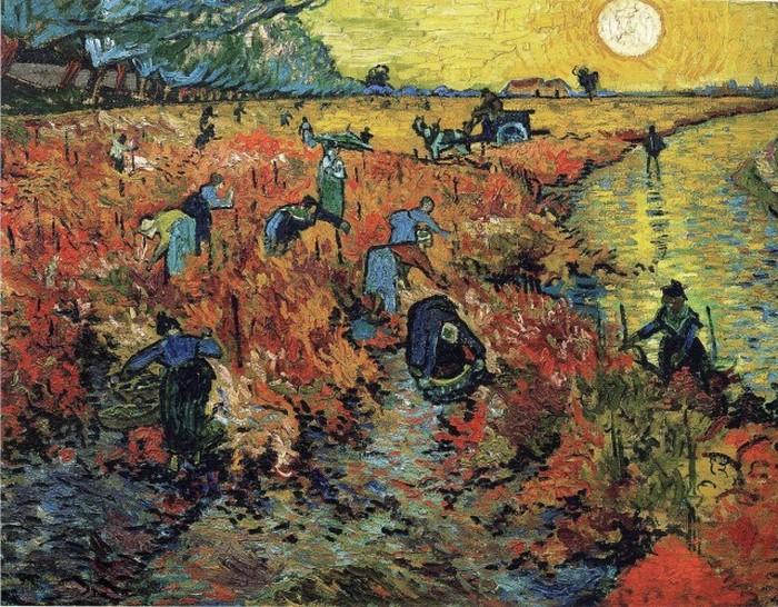 «Красные виноградники в Арле». Ван Гог.