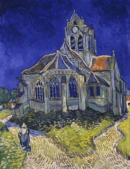 Церковь на картине Ван Гога.