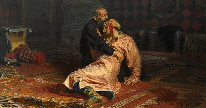 Иван Грозный убивает своего сына. Илья Репин.