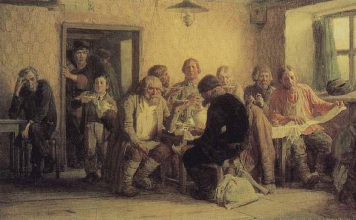 Художник В.М. Васнецов. Чаепитие в трактире. 1874 г.