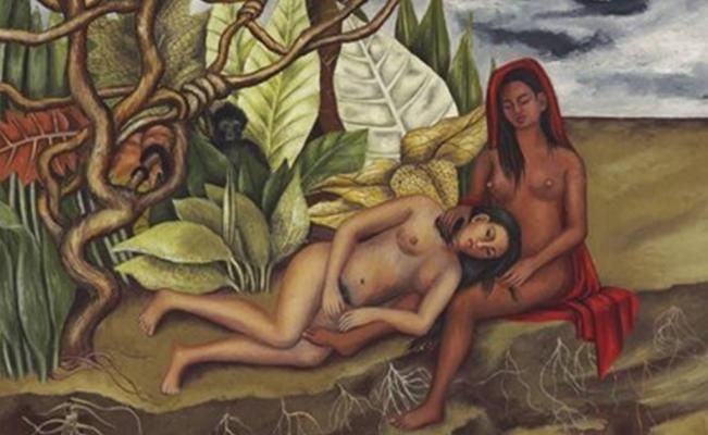 «Две обнаженные в лесу (сама Земля)». Фриду Кало.