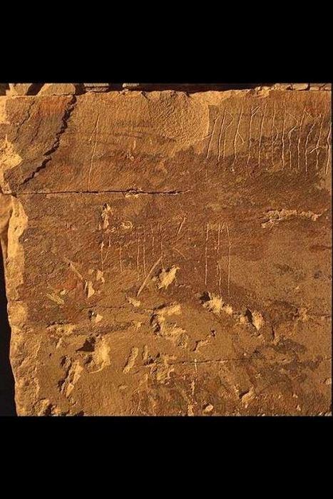 Мейсхау. Часть надписи, которая гласит: «Арнфинн, сын Стена, вырезал эти руны».