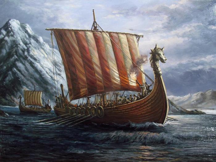 Знаменитые даккары викингов.
