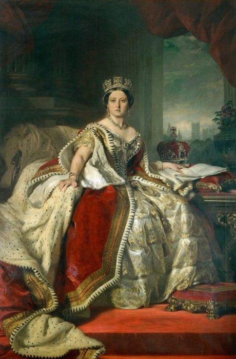Портрет юной королевы Виктории кисти Франца Ксавера Винтерхальтера. 1859 год.