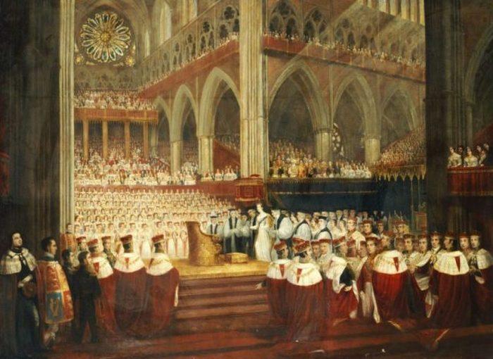 Коронация королевы Виктории, картина Эдмунда Томаса Пэрриса