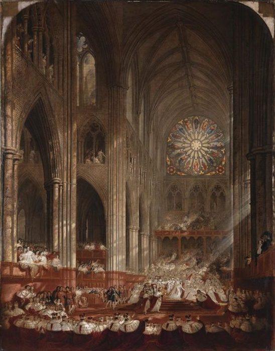 Коронация королевы Виктории — картина Джона Мартина, на которой изображена королева, идущая к краю платформы для встречи с лордом Роллом