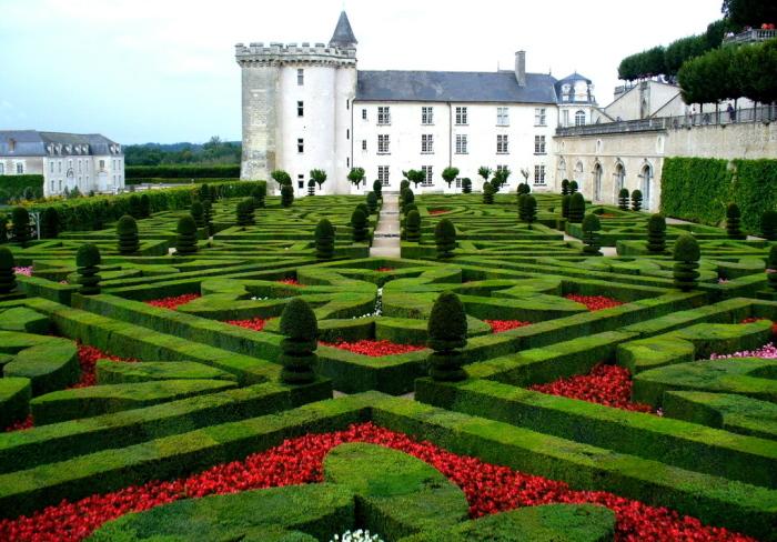 Сад замка Вилландри, Франция.