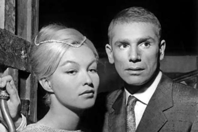 Марина Влади и её первый супруг Робер Оссейн.