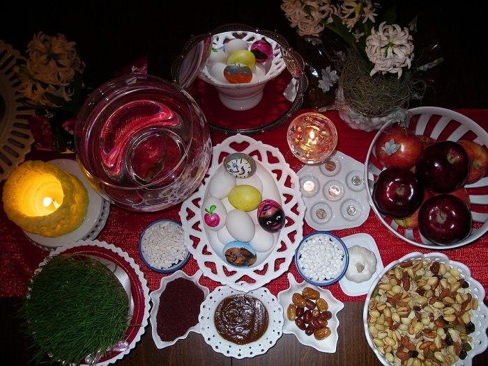 Яйца на иранском Новрузе.
