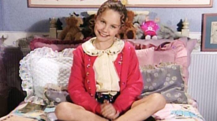 Аманда Байнс в детские годы.