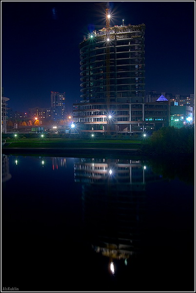 Ночной город. Оригинальные фотографии Алексея Куклина.