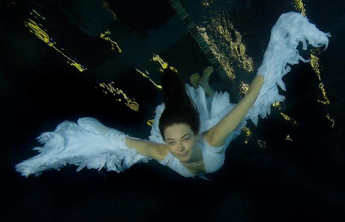 Подводные фотографии Марины Кочетовой. Неоангел.
