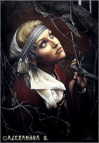Александра Боделлер. Портрет Н. Шестаковой.
