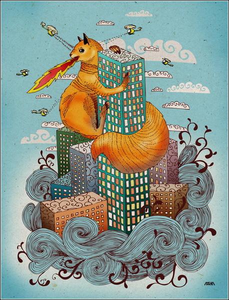 Иллюстрации и рисунки Насти Разбегаевой. Бел Конг.