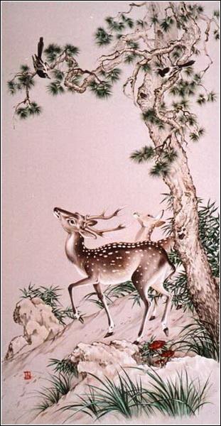 техника китайской живописи: