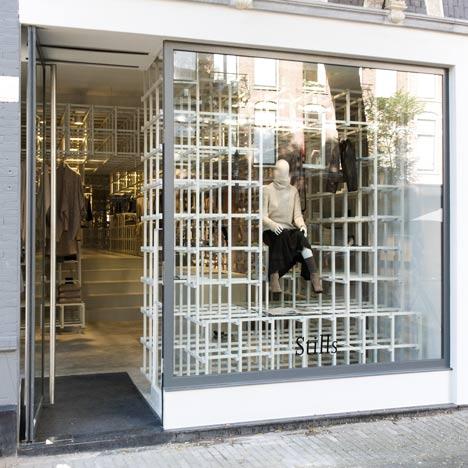 Интерьер амстердамского бутика модного бренда Stills