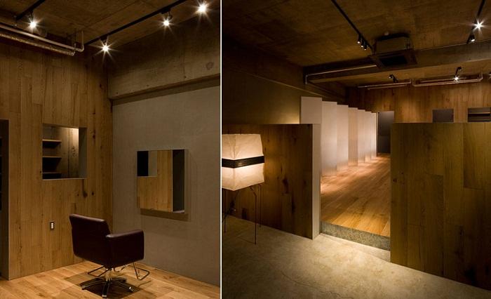 Интерьер-инсталляция салона красоты Troove от Хироюки Мияке (Hiroyuki Miyake)