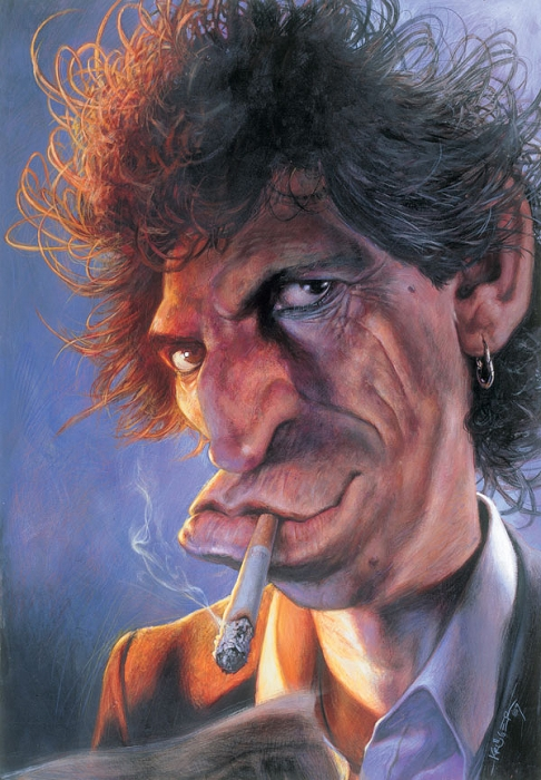 Шаржи Sebastian Kruger на Rolling Stones. Кит Ричардс