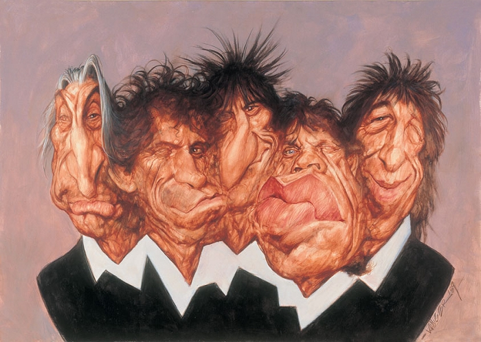 Карикатуры Sebastian Kruger. The Rolling Stones