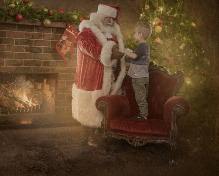 Рождественская фотосессия для детей, которые находятся в больнице