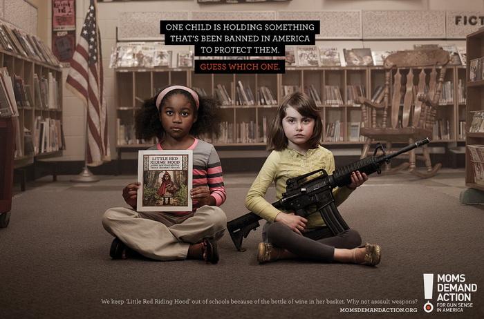Социальная реклама против продажи оружия в Америке
