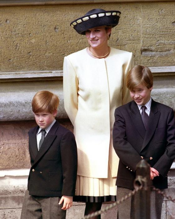 Принцесса Диана с сыновьями. Фото: tumblr.com