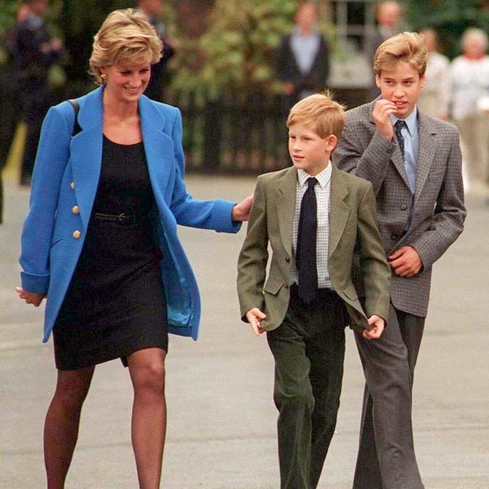 Принцесса Диана с сыновьями Уильямом и Гарри. Фото: usmagazine.com