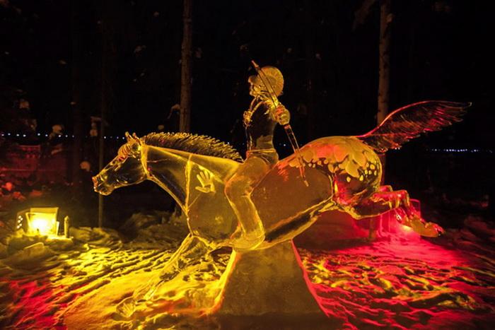Ледовые скульптуры на World Ice Art Championship-2013
