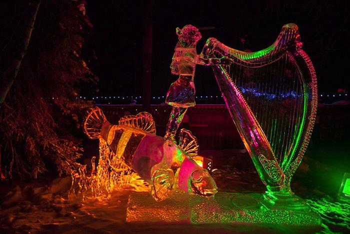 Чемпионат по созданию ледовых скульптур проходит в Фэрбанксе с 1988 года