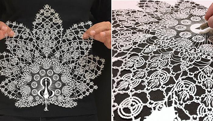 Кружевные рисунки из бумаги от mr Riu