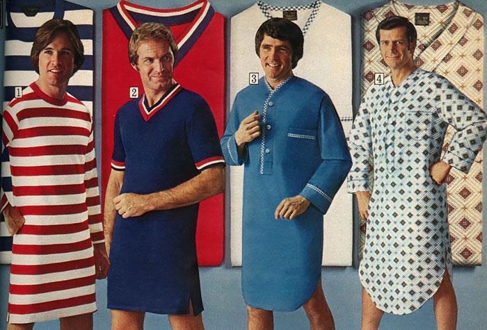 1970-е: реклама мужского трикотажа