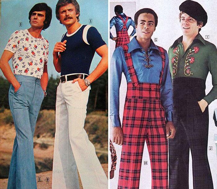 1970-е: реклама мужской одежды