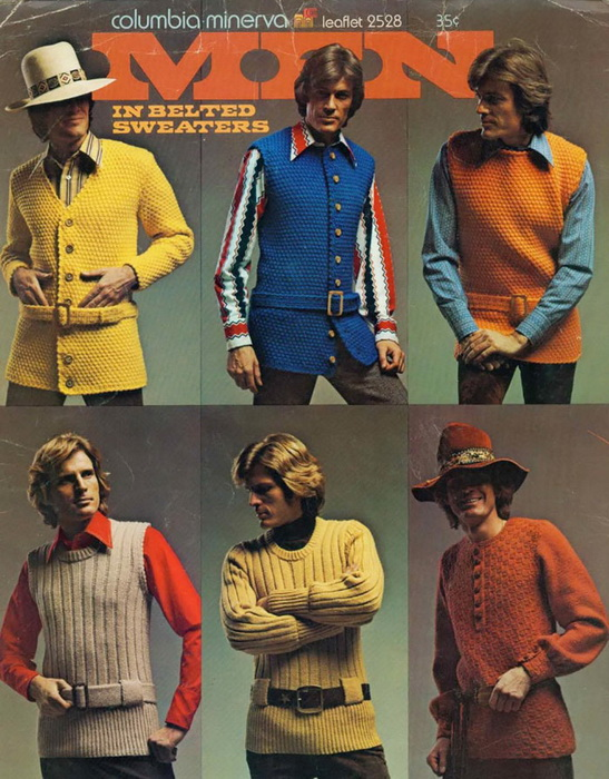 Разнообразие вязаных кофт и свитеров