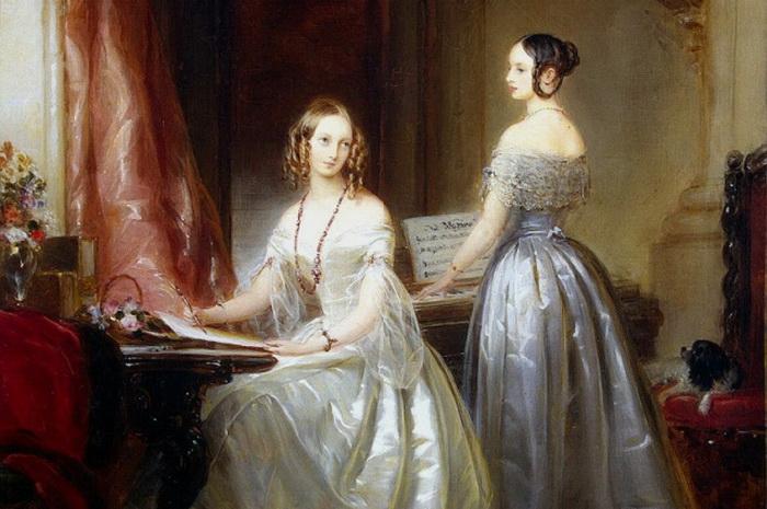К. Робертсон. Дочери императора Николая I, княжны Ольга и Александра Николаевны, 1840