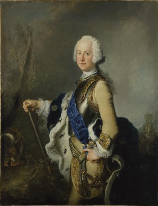 Портрет короля Швеции Адольфа Фредерика.