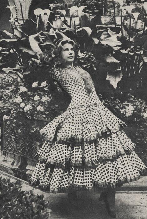 Каэтана Альба на празднике, 1960 год