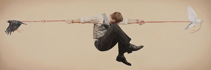 Relativity: цикл сюрреалистических рисунков от Алекса Холла (Alex Hall)