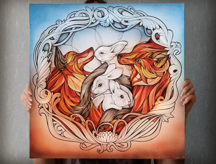 Триптих «Vulpes Vulpes». Алиса Макарова