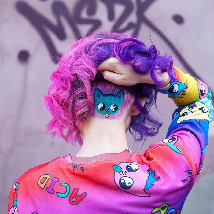 Скрытые рисунки на затылке: новый тренд в покраске волос