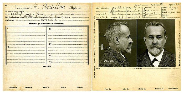 Антропометрическая карточка Альфонса Бертильона.