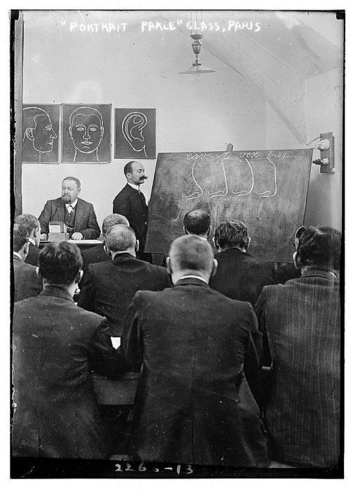 Альфонс Бертильон рассказывает о своей системе измерений.