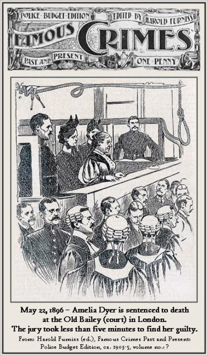 Амелия Дайер приговорена к смертной казни.